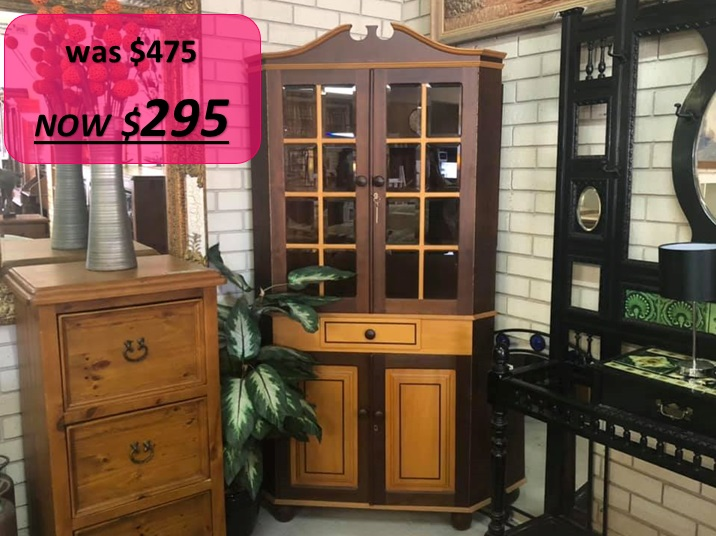 Emboya Corner Display Cabinet